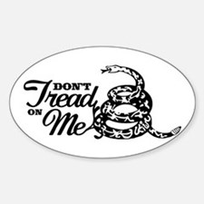 Dont Tread Tea Party Oval Decal