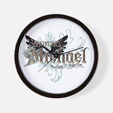 Archangel Michael Rides Again Wall Clock