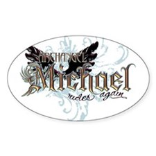 Archangel Michael Rides Again Oval Sticker (10 pk)
