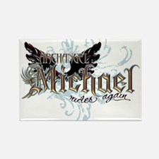 Archangel Michael Rides Again Rectangle Magnet