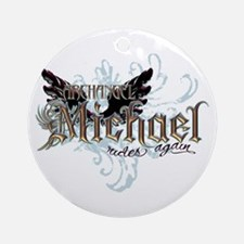 Archangel Michael Rides Again Ornament (Round)