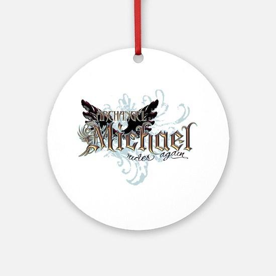 Archangel Michael Rides Again Ornament (Round)
