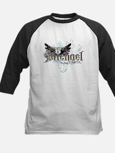 Archangel Michael Rides Again Kids Baseball Jersey