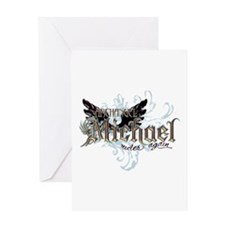 Archangel Michael Rides Again Greeting Card