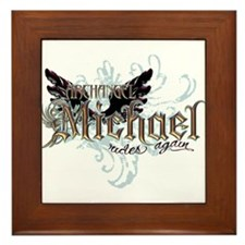 Archangel Michael Rides Again Framed Tile