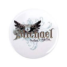 "Archangel Michael Rides Again 3.5"" Button (100 pac"