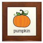 pumpkin Framed Tile