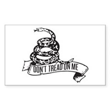Dont Tread Banner Rectangle Decal