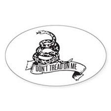 Dont Tread Banner Oval Decal