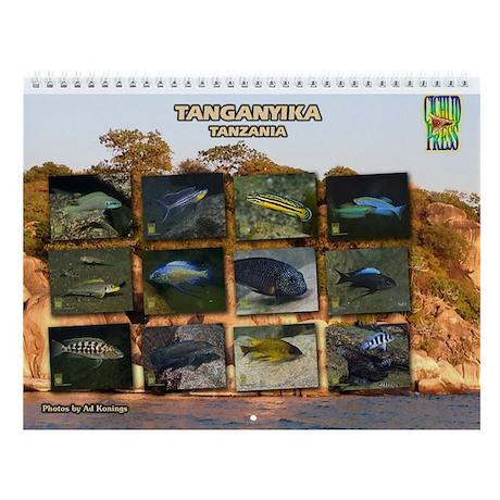 Tanganyika Cichlids Tanzania Wall Calendar