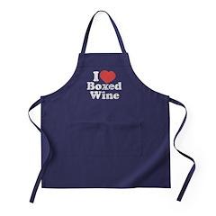 I Heart Boxed Wine Apron (dark)
