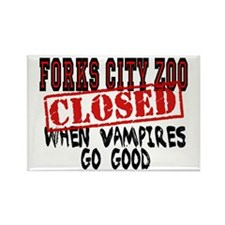 Forks City Zoo Closed Rectangle Magnet