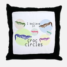 Funny Crop circles Throw Pillow