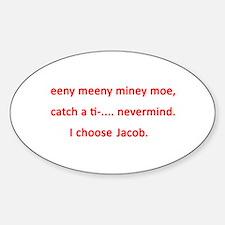 I choose Jacob Oval Decal