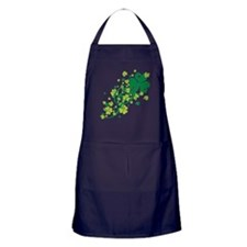 Shamrocks and Swirls Apron (dark)