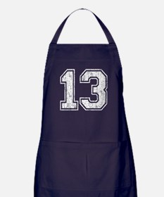 Retro 13 Number Apron (dark)