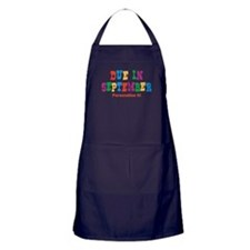 Due in September Apron (dark)