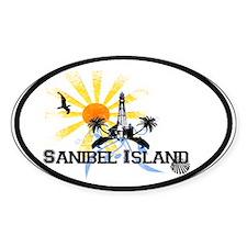 Sanibel Island FL Oval Bumper Stickers