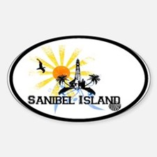 Sanibel Island FL Oval Bumper Stickers