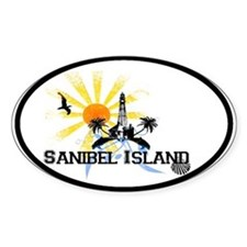 Sanibel Island FL Oval Decal