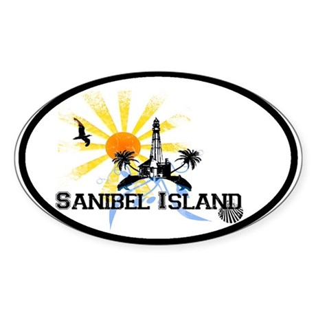 Sanibel Island FL Oval Sticker