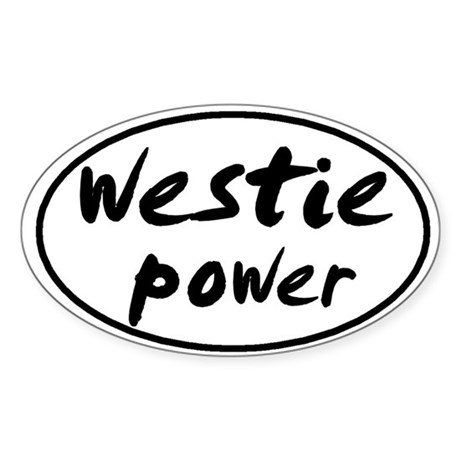 Westie POWER Oval Sticker