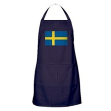Sweden Flag Apron (dark)