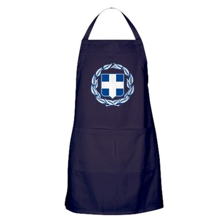 Greece Coat of Arms Apron (dark)