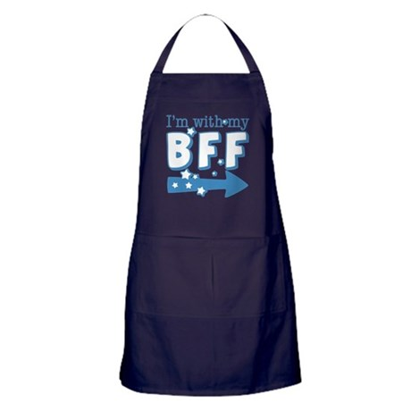I'm with My BFF (RIGHT) Apron (dark)