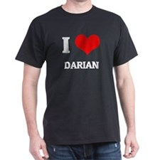 I Love Darian Black T-Shirt