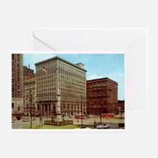 1950's Youngtown Central Square Greeting Card
