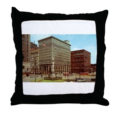 1950's Youngtown Central Square Throw Pillow