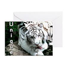 White Tiger Blank Greeting Card