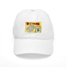 1950's West Virginia Map Baseball Cap