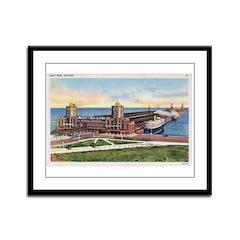 1930's Chicago's Navy Pier Framed Panel Print