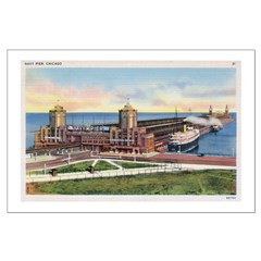 1930's Chicago's Navy Pier Posters