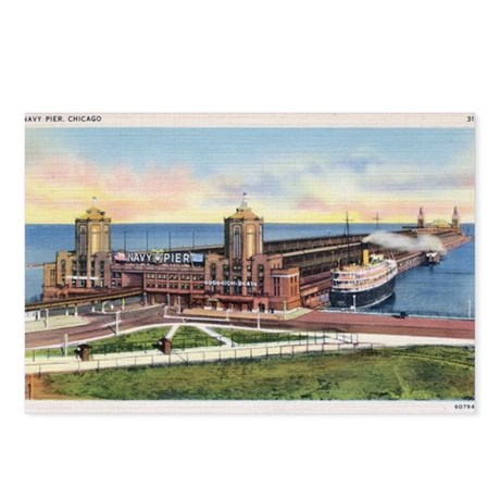 1930's Chicago's Navy Pier Postcards (Package of 8