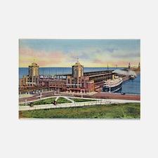 1930's Chicago's Navy Pier Rectangle Magnet