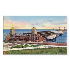 1930's Chicago's Navy Pier Rectangle Decal
