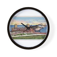 1930's Chicago's Navy Pier Wall Clock