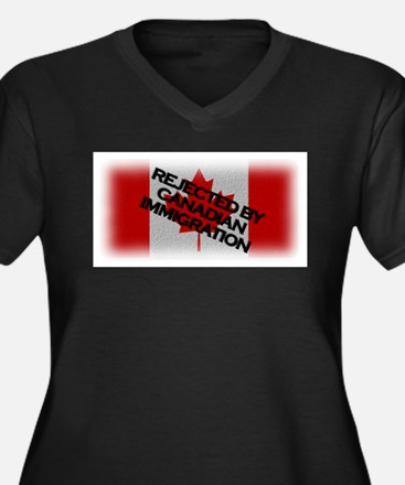 Rejected by Canadian Immigrat Women's Plus Size V-
