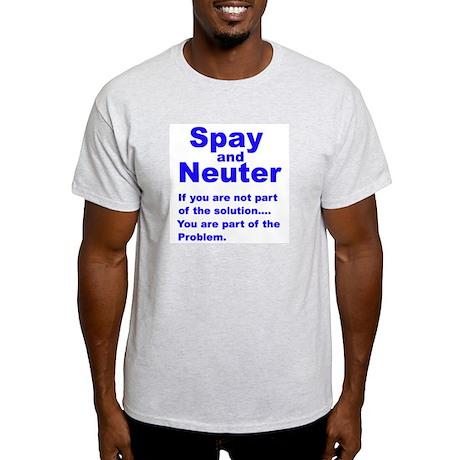 Spay and Neuter! Ash Grey T-Shirt