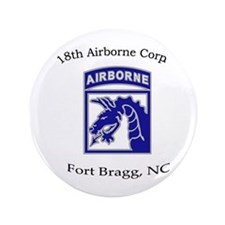"18th ABN Corps 3.5"" Button"