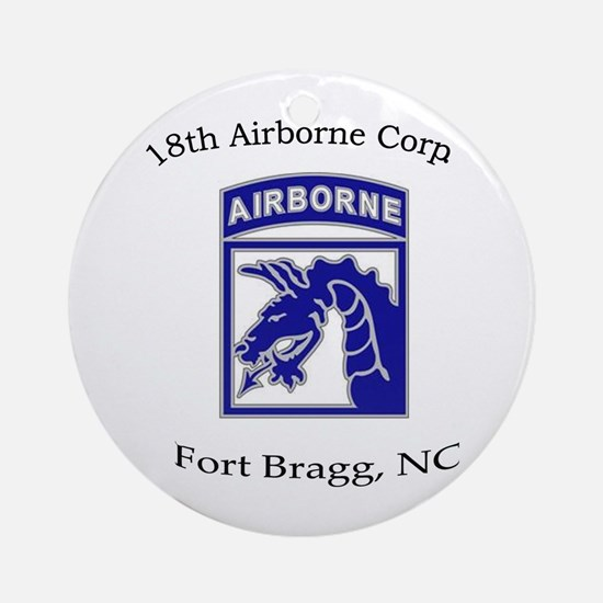18th ABN Corps Ornament (Round)