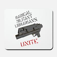 radical militant librarian Mousepad