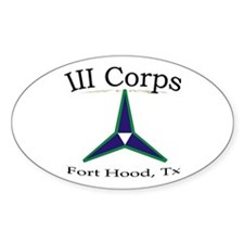 3rh Corps Oval Decal