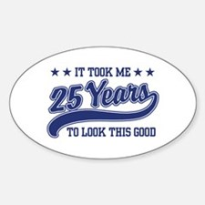 25th Birthday Oval Decal