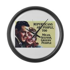 Republicans Are - On a Large Wall Clock