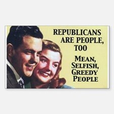 Republicans Are - On a Rectangle Sticker 10 pk)