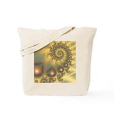 Golden Fiddle Fractal Tote Bag